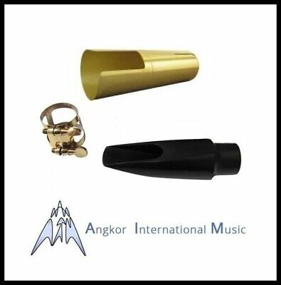 Angkor Replacement Student Soprano Saxophone Mouthpiece + Metal Cap + ligature