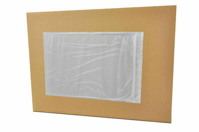 "500 9.5"" x 12"" Clear Packing List Envelopes Stickers Plain Face - Back Side Load"