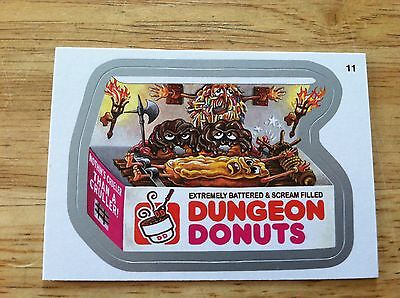 WACKY PACKAGES SERIES 10 SILVER STICKER DUNGEON DONUTS SWEET TORTURE SCREAM 2013