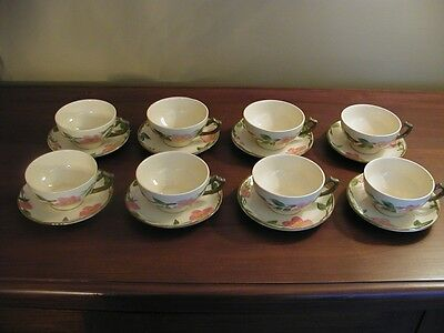 Franciscan Desert Rose Set of (8) Flat Cups and Saucers England