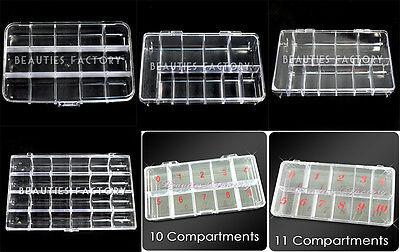 BF Empty Storage Box Case Compartments For Acrylic Nail Art Gems Rhinestone Tool