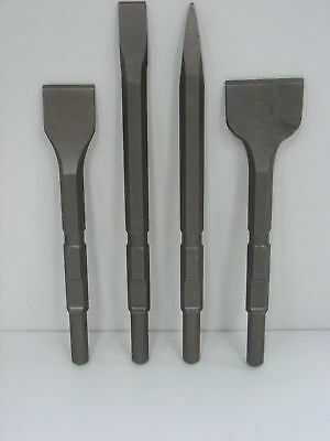 Set of 4 breaker steels KANGO K900/950 – Point +Chisel +2 Wide Chisels 50 &75mm