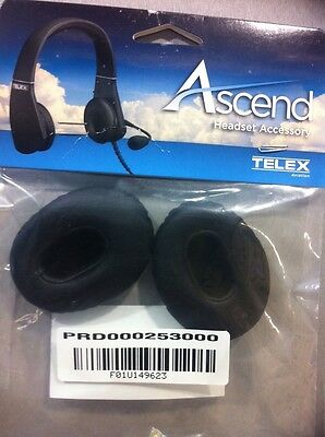 NEW TELEX EAR CUSHIONS or EAR PADS for ASCEND p/n PRD000253000