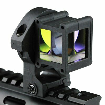 Tactical Reflect Angle Sight 360 Degree Rotate For Laser Sight Picatinny W/ Rail