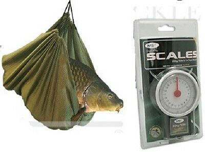 BRAND NEW  Coarse Carp Fishing Weigh Weighing Sling + 50LB Scales