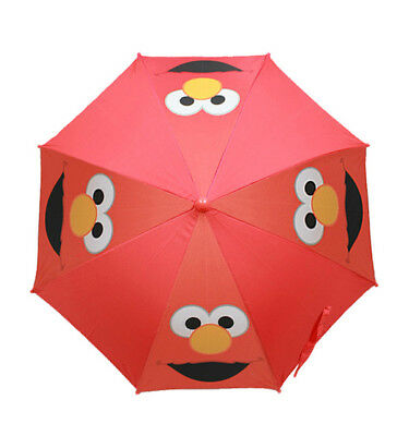Sesame Street Elmo Collapsible Umbrella With 3D Handle, New