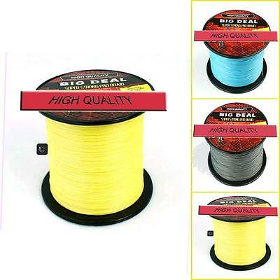 4S Power Super Strong 100M Green Yellow Dyneema Braided Braid Fishing Line New