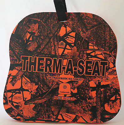 """Nep Therm-A-Seat® 3/4"""" Thick Orange Invision Camo Hot Seat Pad Hunting C701"""