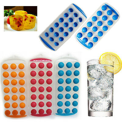 2 x Easy Ice Cube Maker Ice Cube Tray Plastic Silicone Top  Jelly Mould Cocktail