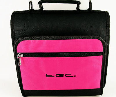 "Hot Pink & Black Carry Case Bag for Coby TFDVD1029 10.2"" Portable DVD Player"