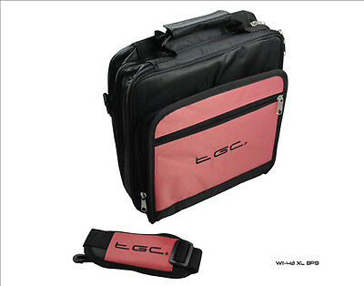 "Baby Pink & Black Twin compartment Case Bag for Zennox 9""  DVD Player"