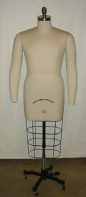 Male Professional Dress Form Size 38 Two Removable Arms & Collapsible Shoulders
