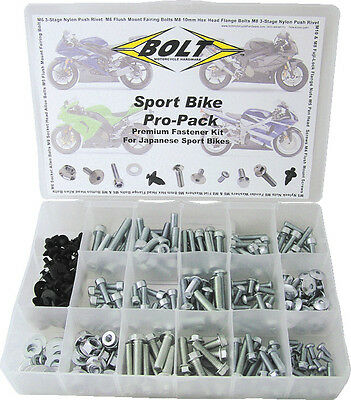 Specialist motorbike bolts pack -SPORTSBIKE- 250pc Pro size for most motorcycles