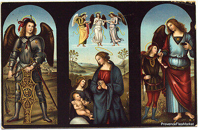 CPA POSTCARD ARCHANGE VIERGE ENFANT RAPHAEL   scan haute definition lae532