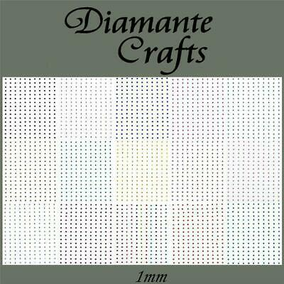 240 x 1mm Diamante Self Adhesive Rhinestone Craft Gems - Choose from 19 Colours