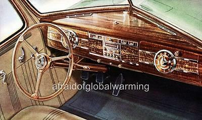 Old Print.  1939 Hudson Automobile Six Dashboard