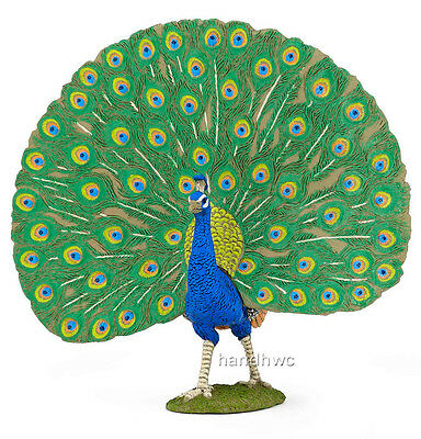 FREE SHIPPING | Papo 51161 Peacock Peafowl Bird Model Figurine - New in Package