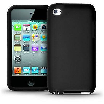 Black Silicone Skin Case for Apple iPod Touch 4th Gen 4G Bumper iTouch Cover