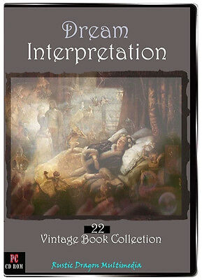 DREAM INTERPRETATION Vintage Book Collection 22 Books on CD Dreams Freud