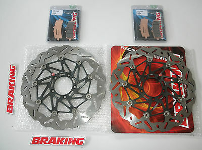 Braking Kit Dischi Freno Anteriori Wave + Past Per Ducati 1098 S Tricolore 2007