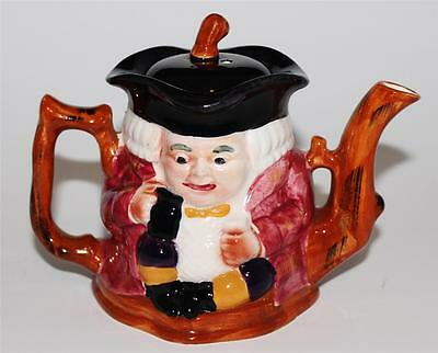 Vintage Shorter & Sons Two Faced Toby Jug, Hand Painted England, One Cup Teapot