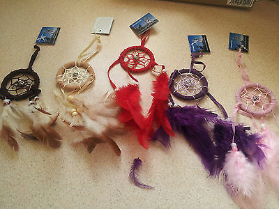 Lovely Small Dream Catchers In Different Colours - Free P+P