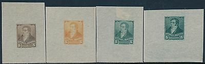 Argentina #96Tc (4) Different Trial Color Proofs On India Paper Hv6308