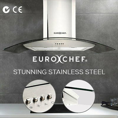 NEW EUROCHEF 900mm Rangehood- Stainless Steel Commercial Wall Mount Canopy