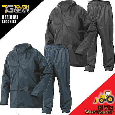 Adults Waterproof Olive Jacket Trousers Rainsuit Unisex Coat Packaway Storm Suit