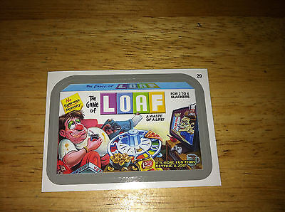 WACKY PACKAGES ANS11 25 SILVER STICKER LOAF GAME STONER POT LAZY BLUES 29 HUMOR
