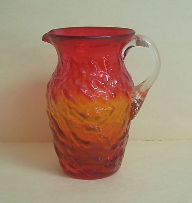 Vintage Pilgrim Glass Amberina Rock Crystal  Pitcher FREE SHIPPING