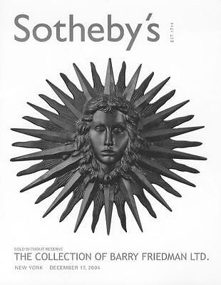 Sothebys 20th Century Deco Design Barry Friedman Collection Auction Catalog 2004