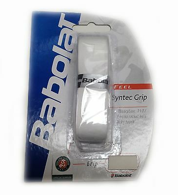 BABOLAT SYNTEC GRIP - tennis racquet replacement grips - WHITE - LOT OF 12
