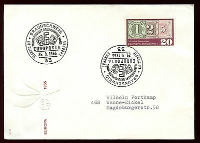 WestGermany 1965 Europa Cover #C10457