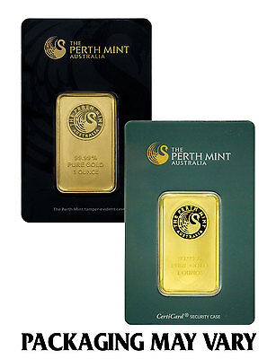 Perth Mint Australia 1 Oz. .9999 Gold Bar - Sealed w/Assay Cert. SKU27278