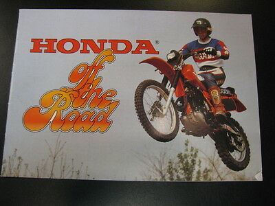 Brochure Honda Off the Road 1981 (Nederlands)