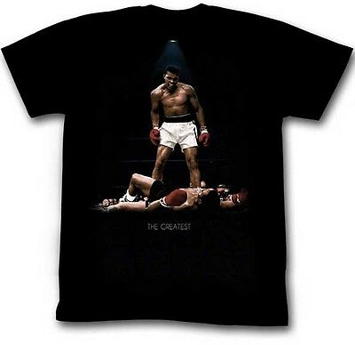 Authentic Muhammad Ali All Over Again The Greatest Liston Boxing T Shirt S -2Xl