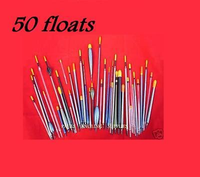 50 x ASSORTED  FISHING FLOATS -- ALL NEW