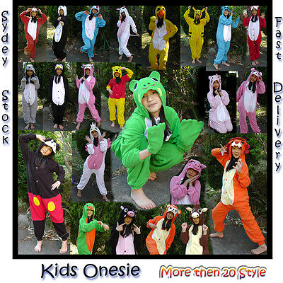 Kids Unisex Animal Onesie Cosplay Costume Kigurumi Pajamas Sleepwear