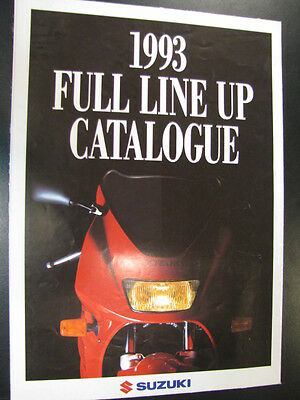 Brochure Suzuki 1993 Full Line UP Catalogue (Duits)