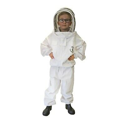 Childrens Beekeeping Jacket with fencing veil and front zip KIDS LARGE