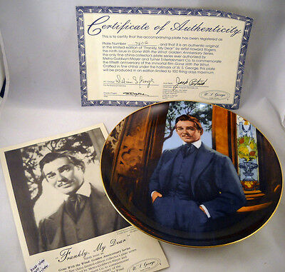 WS George Fine China Frankly My Dear  Plate Collector Dish Bradex w/Box