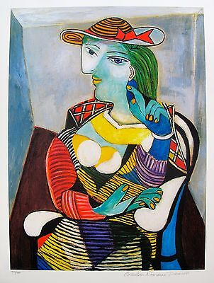 Pablo Picasso PORTRAIT OF MARIE THERESE WALTER Estate Signed Ltd Edition Giclee