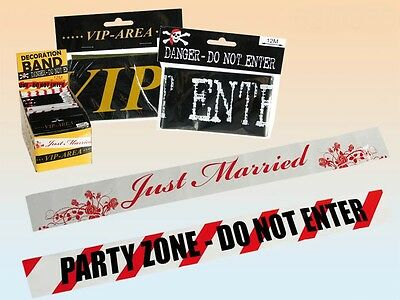 0,39 EUR//m VIP only Absperrband 15 m Party Flatterband Partyband Begrenzung