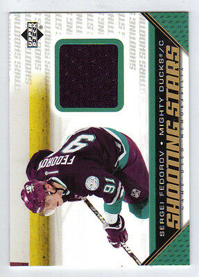 05-06 UD Upper Deck Sergei Fedorov Shooting Stars Game Used Jersey #SSF Mint