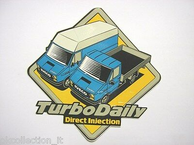 VECCHIO ADESIVO / Old Sticker IVECO TURBO DAILY (cm 17 x 17)