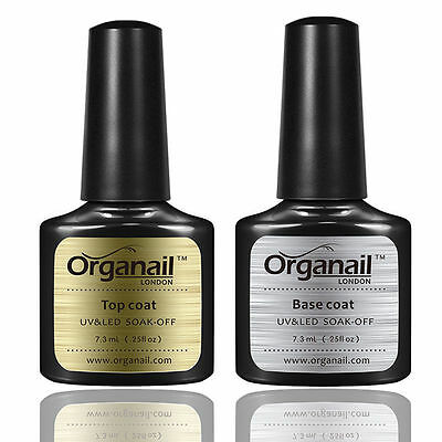 Lot 2 Vernis A Ongle Top +Base Coat Semi Permanent Gel Uv Soak Off Maquillage
