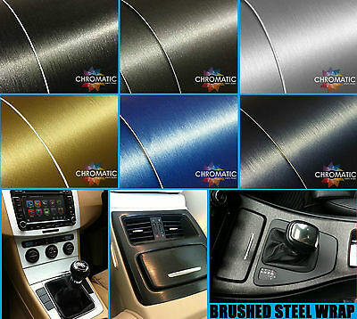 Brushed Steel Car Wrapping Vinyl - Bubble Free Wrap Film Foile - FREE DELIVERY