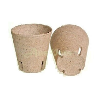 80mm Round Jiffy Pots x 50pcs - Propagation, Seedling, Herbs, Veggie
