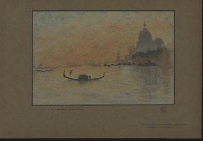 The Salute Grand Canal Venice by J. McNeill Whistler 1907 antique color print